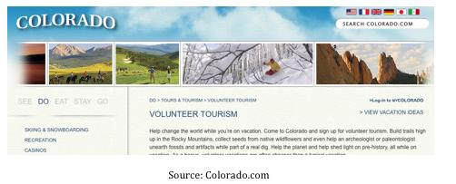 Volontourisme Colorado