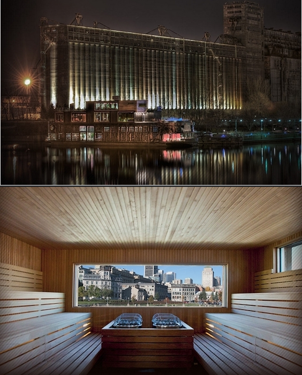 Whats New And Different In Spas Réseau De Veille En Tourisme - Bota bota floating spa in montreal by sid lee architecture