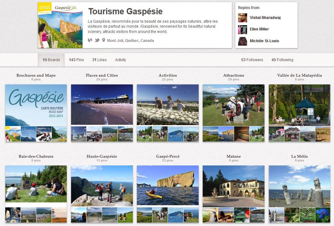 utilisation de pinterest comme outil marketing en tourisme