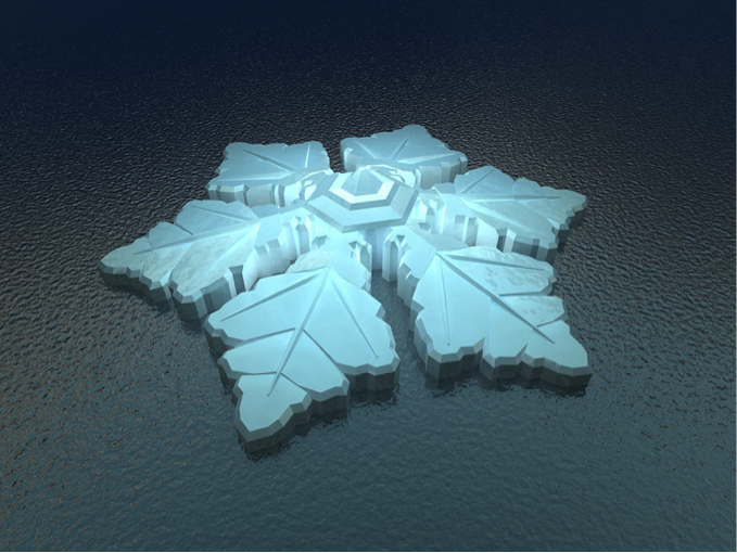 Krystall Hotel flocon de neige