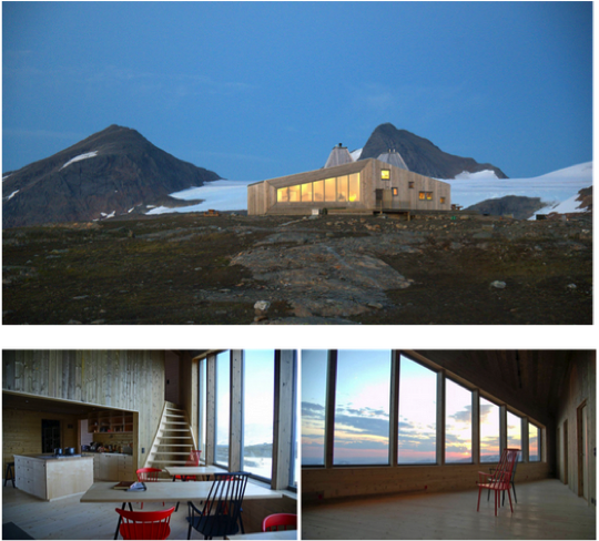 plein air design refuge norvege
