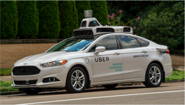 Vehicule sans chauffeur Uber Pittsburgh
