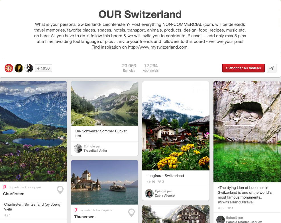 Pinterest Our Switzerland