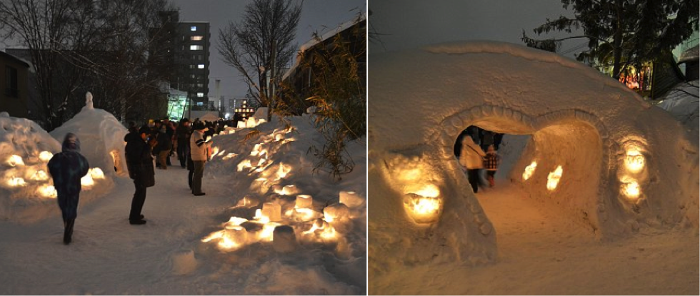 Otaru_Snow_Light_Path_