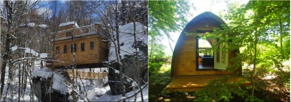 les refuges perches et camping aventure megantic