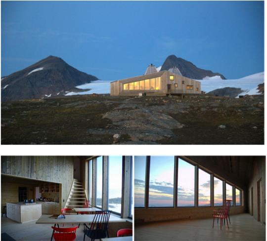 plein air design refuge norvege
