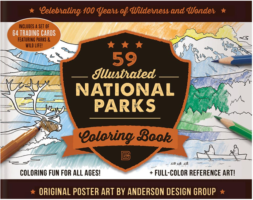 National_parks_cahier_colorier