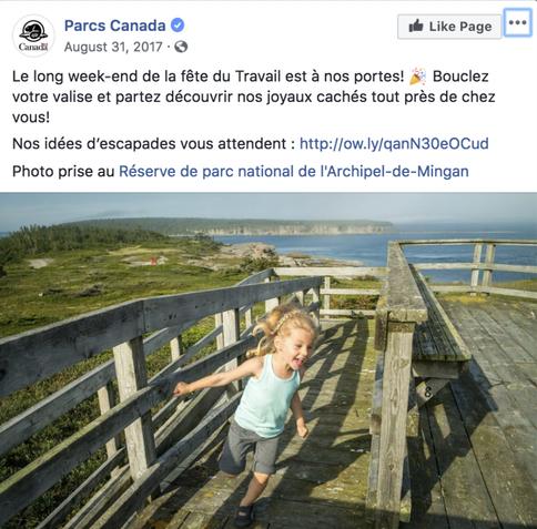 Parcs Canada gère les flux dans ses parcs à l'aide des médias sociaux